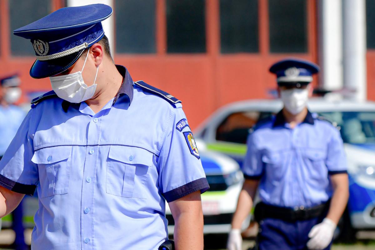 politia din Sibiu in actiune