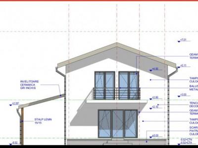 Casa individuala 154 mp utili teren liber 420 mp de vanzare Sura Mica