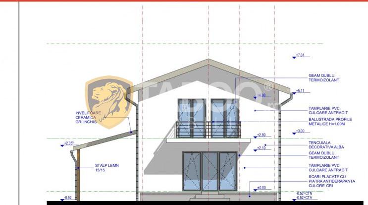Casa individuala 154 mp utili teren liber 420 mp de vanzare Sura Mica 2