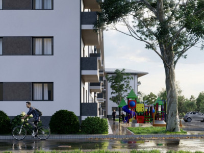 Apartament de vanzare 3 camere 2 bai gradina 70 mp in Selimbar