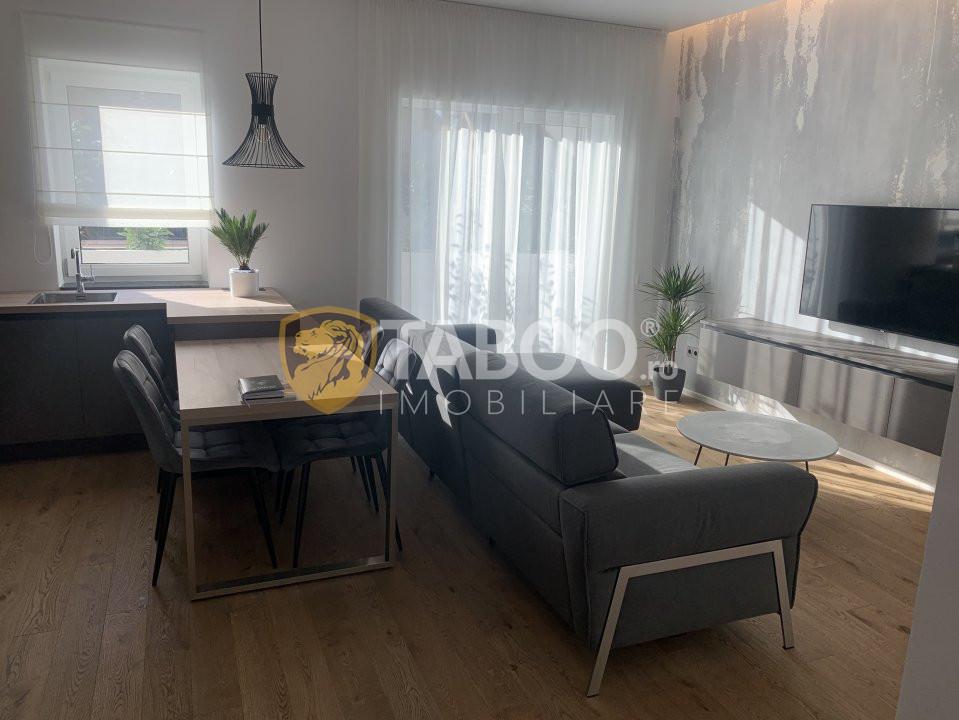 Apartament modern mobilat 2 camere la parter in Selimbar zona Brana 1