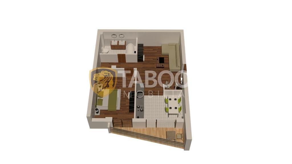 Apartament 2 camere decomandate de vanzare in Sibiu COMISION 0% 1