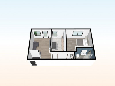 Apartament de vanzare 2 camere balcon 6 mp Selimbar Pictor Brana