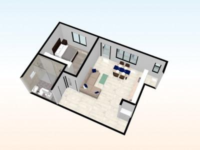 Apartament de vanzare cu 2 camere si balcon 6 mp in Selimbar