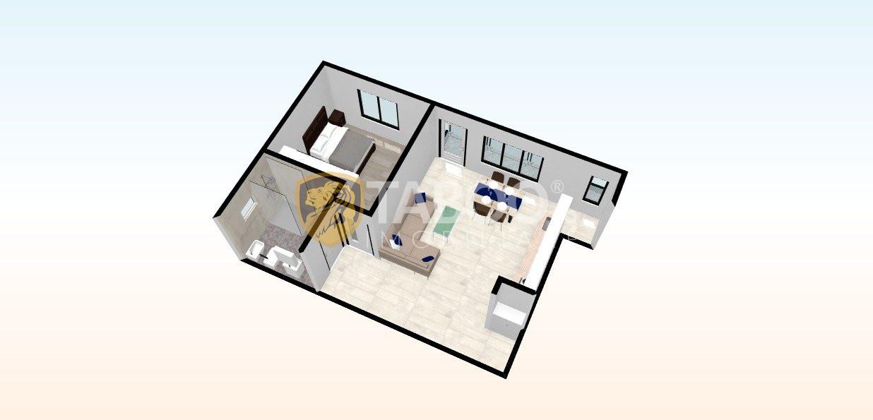 Apartament de vanzare cu 2 camere si balcon 6 mp in Selimbar 1