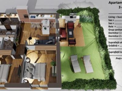 Apartament de vanzare 3 camere  terasa Alba Iulia Sibiu COMISION 0%