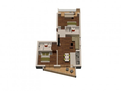 Apartament 3 camere 72.65 mp priveliste superba zona Turnisor Sibiu