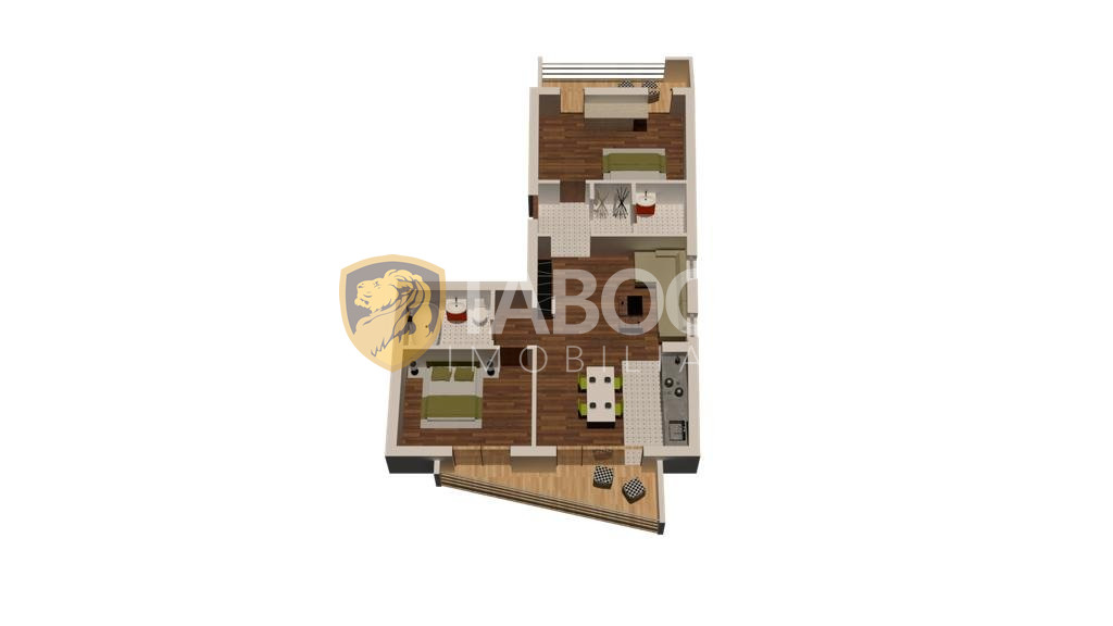 Apartament 3 camere 2 balcoane priveliste superba zona Turnisor Sibiu 1