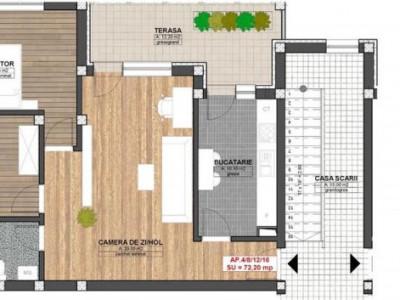 Apartament de vanzare cu 3 camere zona Piata Cluj Sibiu