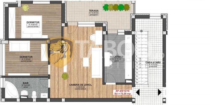 Apartament de vanzare cu 3 camere zona Piata Cluj Sibiu 1