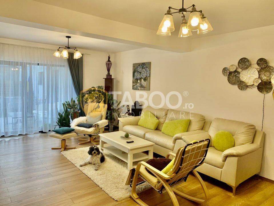 Casa de lux tip duplex complet mobilata si utilata in Selimbar 1