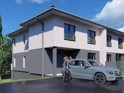 Duplex de vanzare 4 camere 150 mp utili si teren 215 mp in Cisnadie