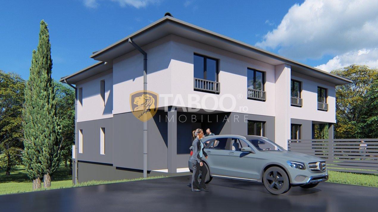 Duplex de vanzare 4 camere 150 mp utili si teren 215 mp in Cisnadie 1
