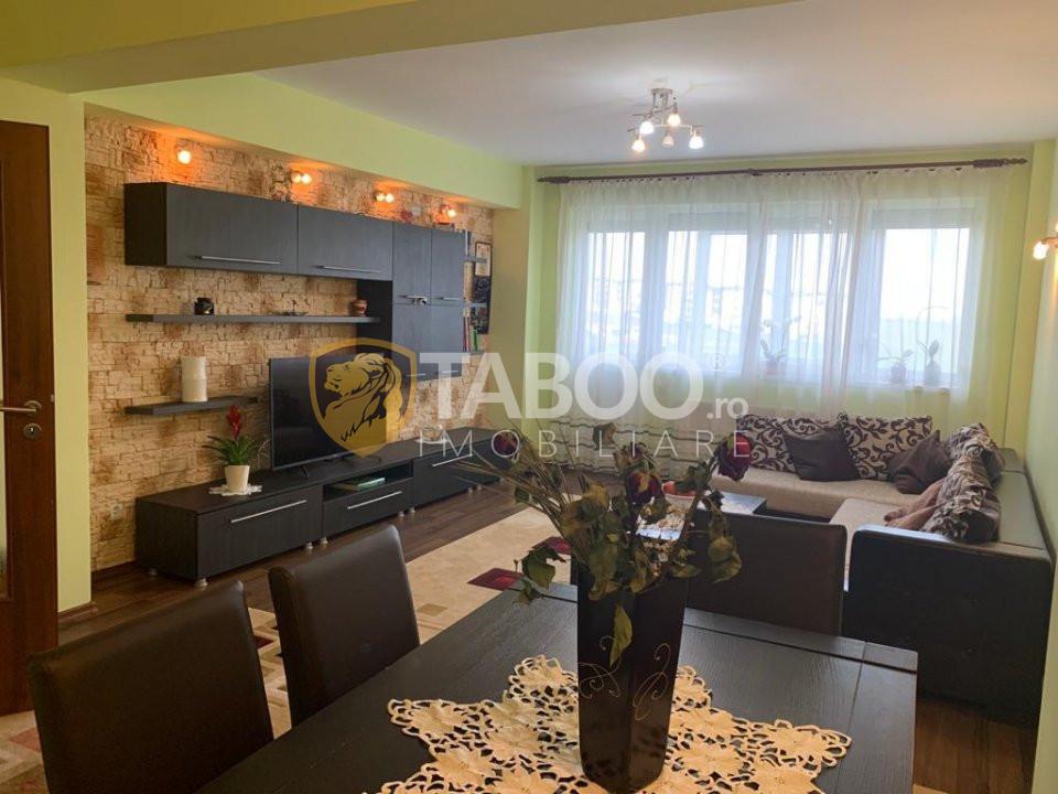 Apartament de vanzare in Sibiu 86 mp cu 2 camere decomandate Turnisor 1
