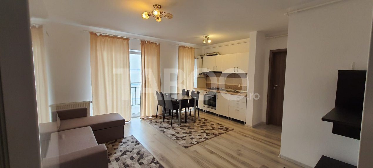 Apartament de inchiriat etaj 3 mobilat modern in Sibiu zona Magnolia 1