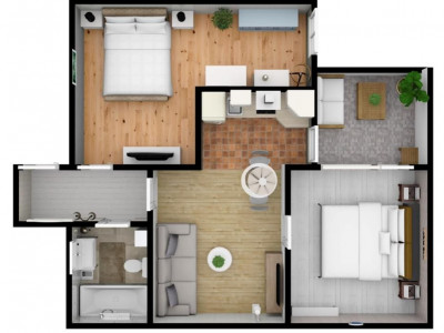 Apartament cu 3 camere de vanzare pe Calea Cisnadiei comision zero