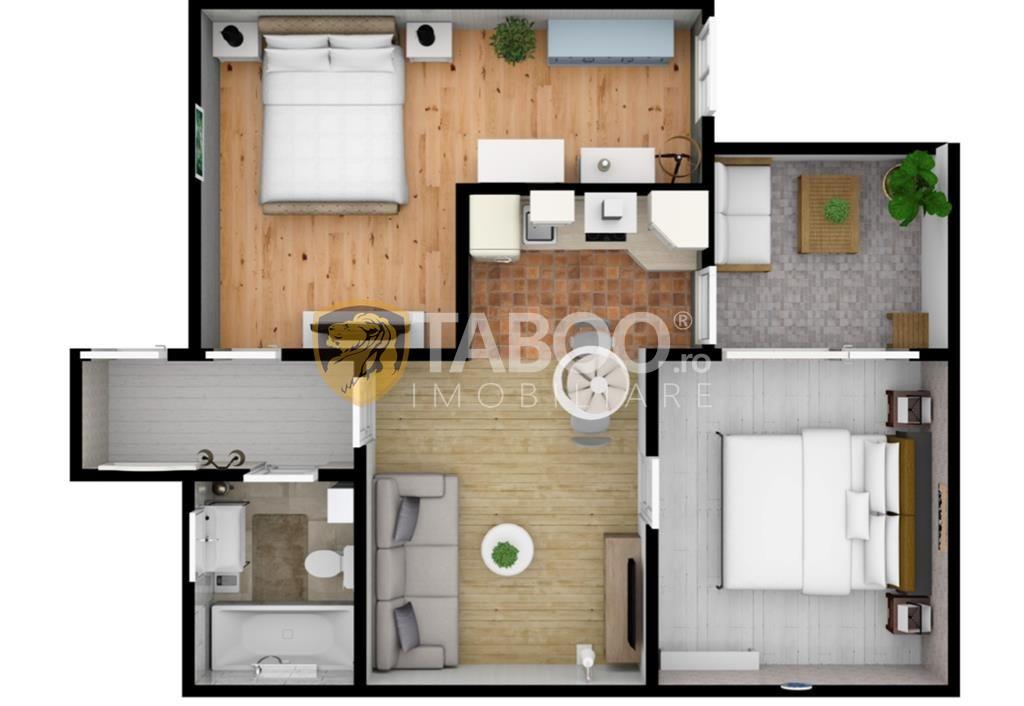 Apartament cu 3 camere de vanzare pe Calea Cisnadiei comision zero 1