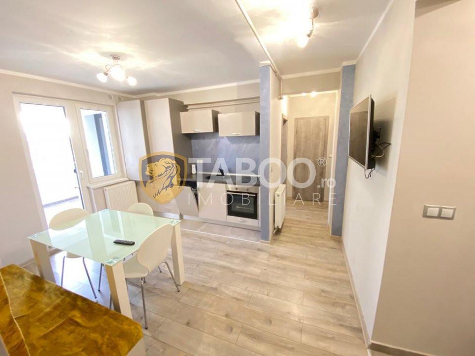 Apartament modern 3 camere cu terasa de inchiriat Sibiu Mihai Viteazu 1