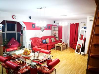 Apartament mobilat utilat 3 camere 2 bai 2 balcoane in Sibiu Terezian