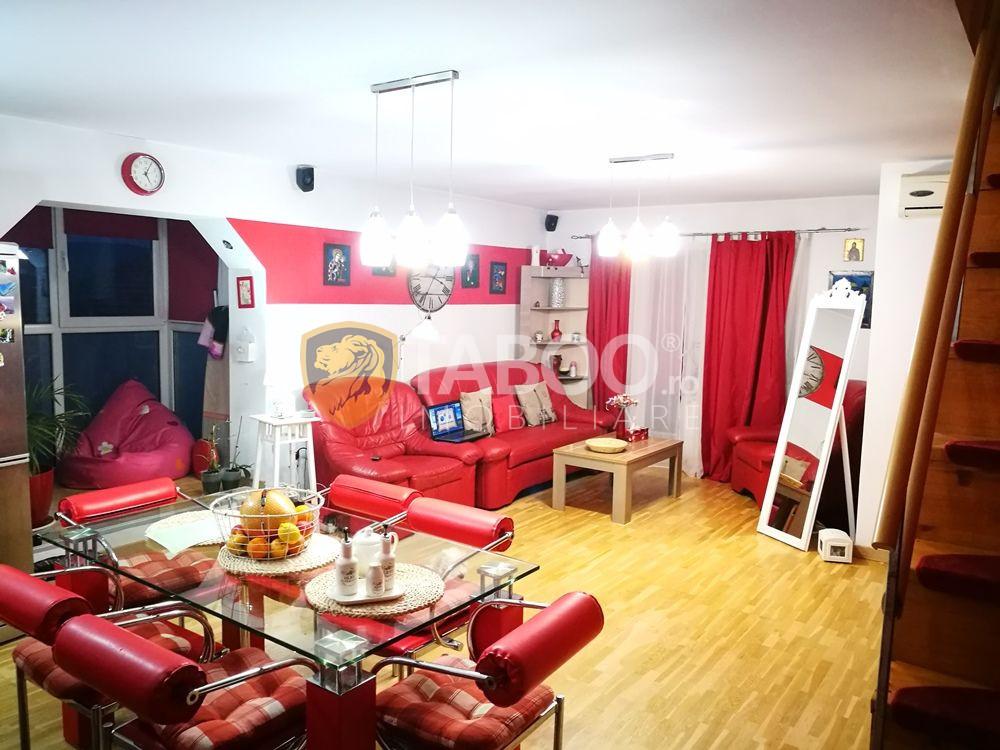Apartament mobilat utilat 3 camere 2 bai 2 balcoane in Sibiu Terezian 1
