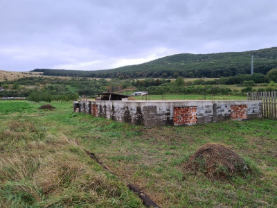 Teren intravilan de vanzare cu fundatie casa in Petresti judetul Alba