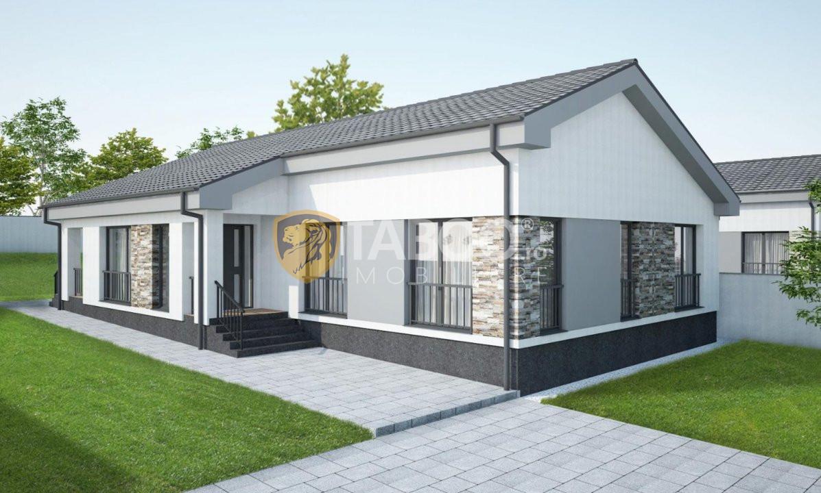 Casa individuala 96 mp utili si 700 mp curte de vanzare in Sura Mare 1