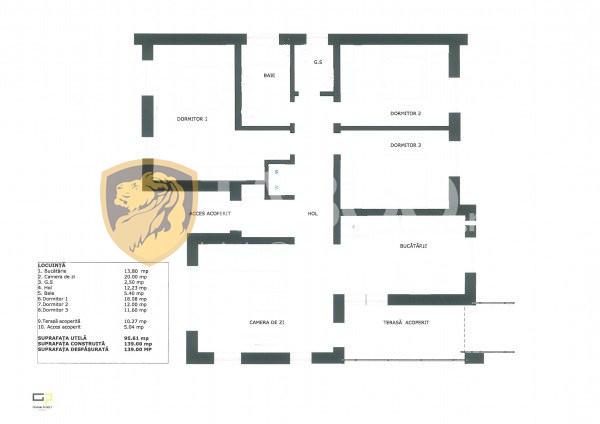 Casa individuala 96 mp utili si 700 mp curte de vanzare in Sura Mare 9