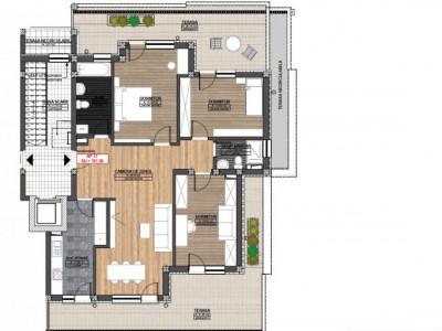 Penthouse 4 camere 2 bai terasa incalzire pardoseala de vanzare Sibiu