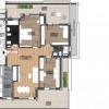Penthouse 4 camere 2 bai 2 terase incalzire pardoseala parcare Sibiu thumb 4