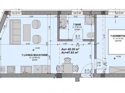 Apartament 2 camere de vanzare intabulat Arhitectilor Sibiu la cheie