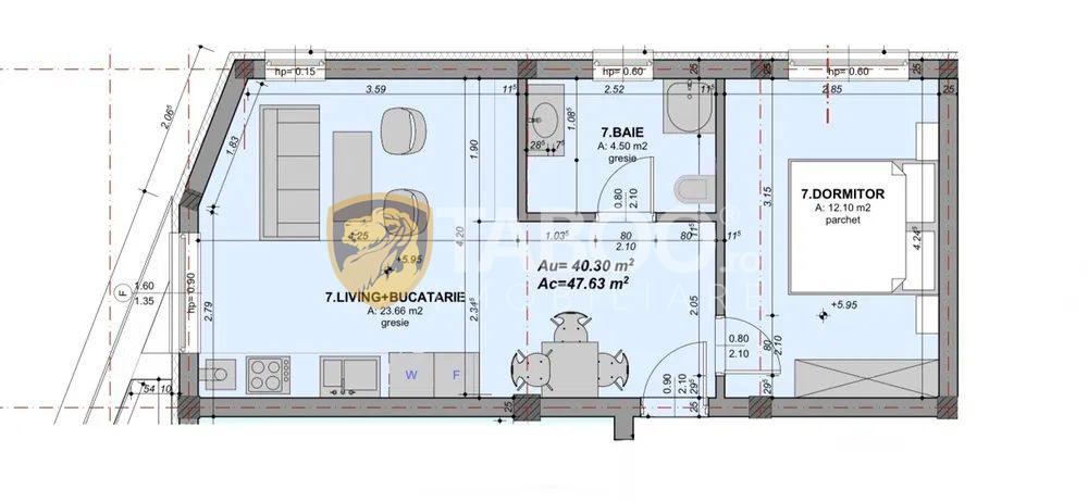 Apartament 2 camere intabulat zona linistita, la cheie si pod 3